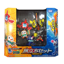 Takara Tomy Original Pokemon Figures Pocket Monster Rowlet Popplio Tapu Koko Pikachu Doll Model Toys