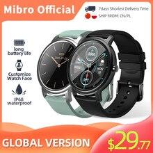 Умные часы Mibro Air Electronics с Bluetooth, мужские и женские часы, спортивные умные часы, фитнес-трекер с пульсометром, женские часы в подарок