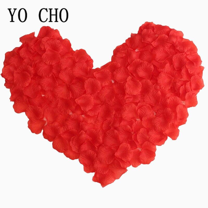 YO CHO Rose petals stacked DIY wedding room decoration wedding simulation petal wedding accessories 100 pieces per pack