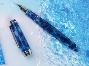 Image 2 - مون مان ديليك قلم حبر نيومون سلسلة الاكريليك الراتنج إيريديوم EF/F/صغيرة عازمة الكتابة قلم هدية مجموعة لمكتب الأعمال