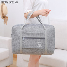 Waterproof Oxford Travel Bags Women Men High Quality Duffle Organizer Luggage Foldable Storage Packing Cubes Weekend Handbags