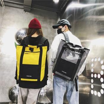 Mochila de moda de color para hombre de ackpack, mochila ins super fire bag para estudiantes de secundaria, bolsa de ordenador de 15,6 pulgadas