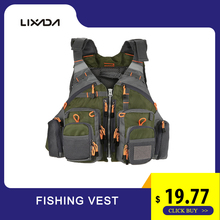 Lixada Outdoor Fishing Vest Men Breathable Safety life Jacket Swimming Sail Waist coat Utility Floating Colete Salva-Vidas