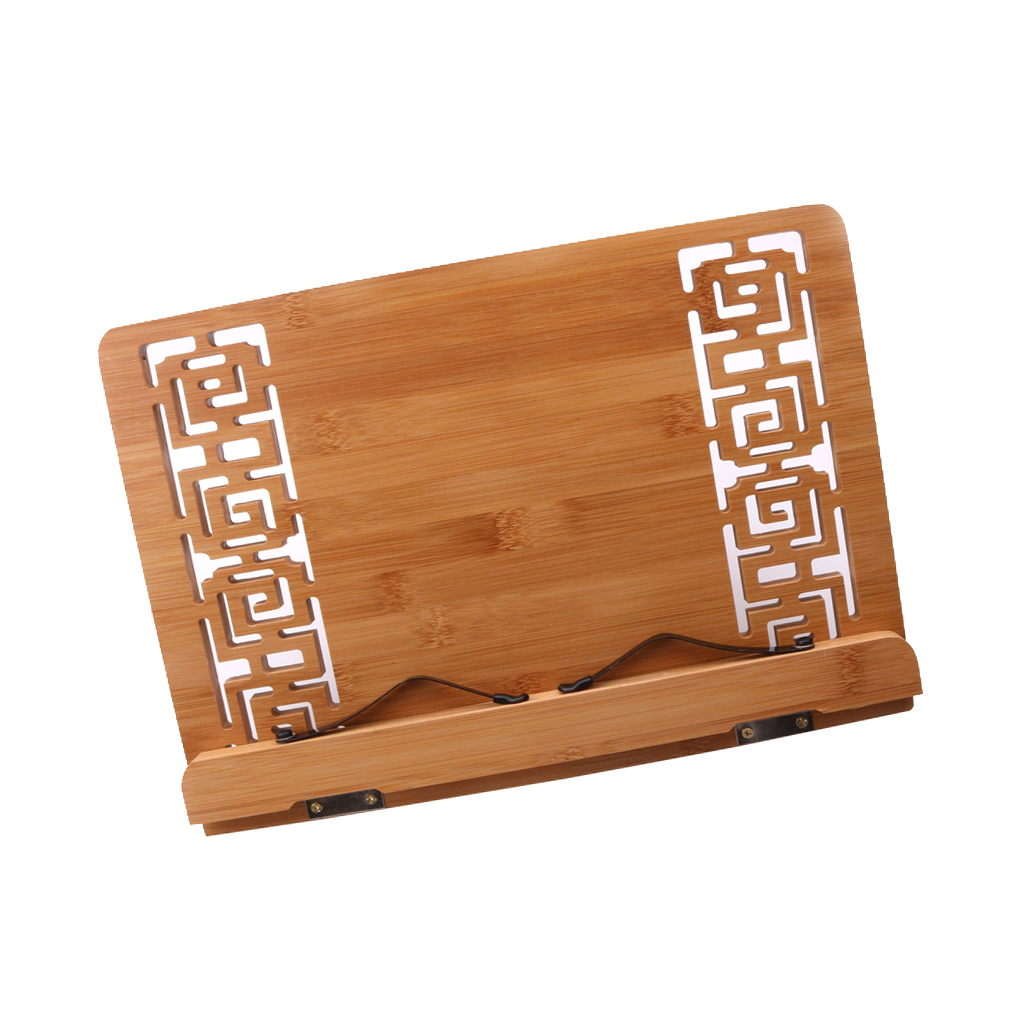 Exquisite Bamboo Hollow Out Music Score Book Pad Holder Musician Perform Practice Accessory