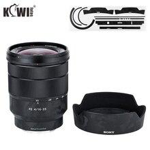 Anti Scratch Lens Protective Skin Film For Sony Vario Tessar T FE 16 35mm F4 ZA OSS SEL1635Z & ALC SH134 Lens Hood 3M Sticker