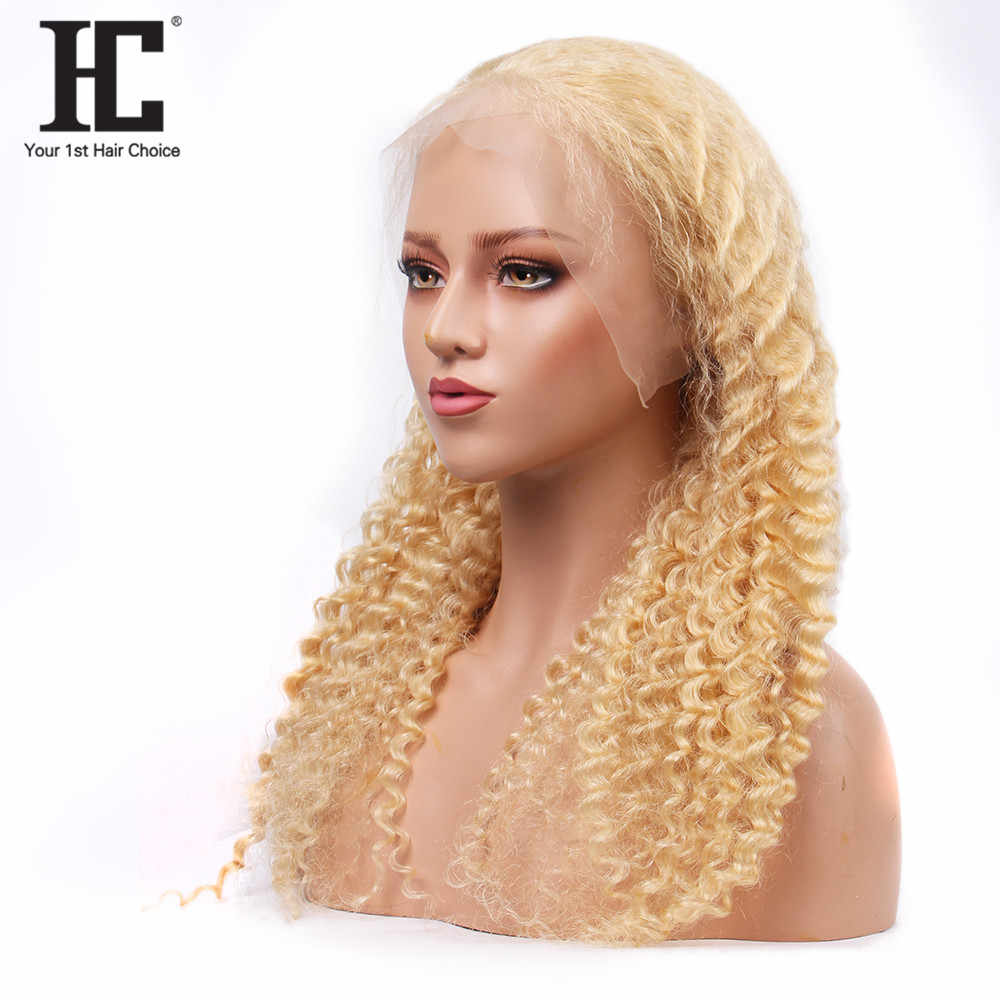 Malaysische Glueless 613 Spitze Vorne Perücke Transparente Spitze Blonde Tiefe Welle Remy Menschenhaar Spitze Perücken Mit Baby Haar Für frauen HC