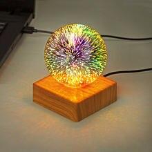 Романтическая проекционная лампа в виде фейерверка светодиодный