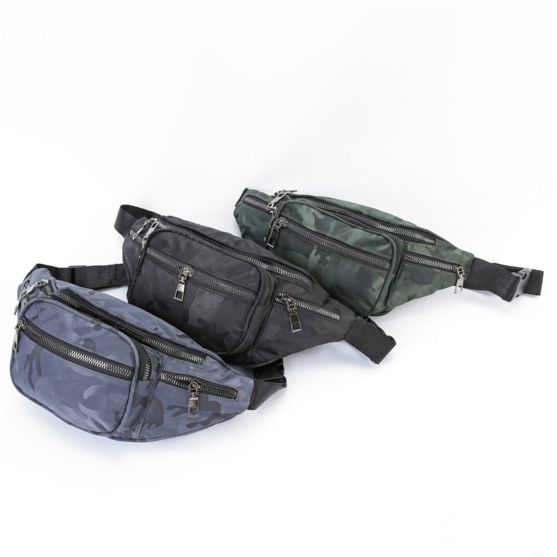 19 Years New Style Sports Waist Pack Outdoor Sport Waist Bag Fashion Multi-functional Large-Volume Wearable Oxford Cloth Waist B
