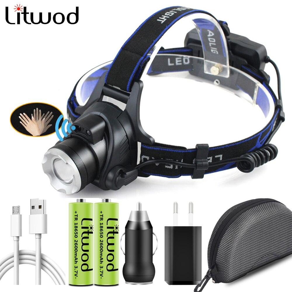 Светодиодный налобный фонарь XHP100, 9-ядерный, 4 цвета, масштабируемый налобный фонарик, фонарик, USB, перезаряжаемые фары, фонарь, водонепроница...