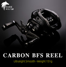 TSURINOYA DARKWOLF 50/100 BFS Bait Casting Fishing Reel Ultralight 151g Shallow Spool Trout Baitcasting Finesse Lure Reel