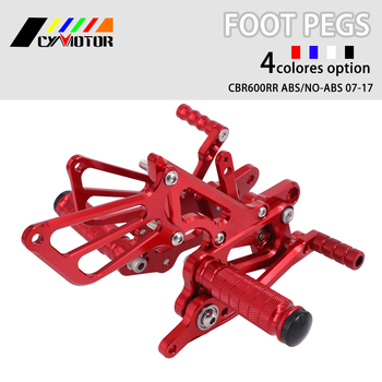 Motorcycle CNC Adjustable Foot Pegs Footpeg For HONDA CBR600 F4i 2001 2002 2003 2004 2005 2006 01 02 03 04 05 06