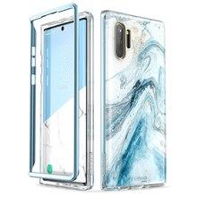 I BLASON Für Samsung Galaxy Note 10 Fall (2019 Release) cosmo Volle Körper Glitter Marmor Abdeckung OHNE Gebaut in Screen Protector