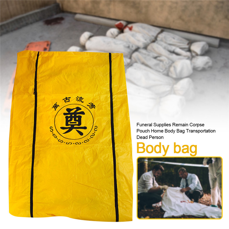 50/100pcs Wholesale Funeral Supplies Corpse Dead Body Bag Hospital Morgue Transportation Dead Person Bag For Dead By Virus