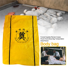 50/100pcs Wholesale Funeral Supplies Corpse Dead Body Bag Hospital Morgue Transportation Dead Person Bag For Dead By Virus