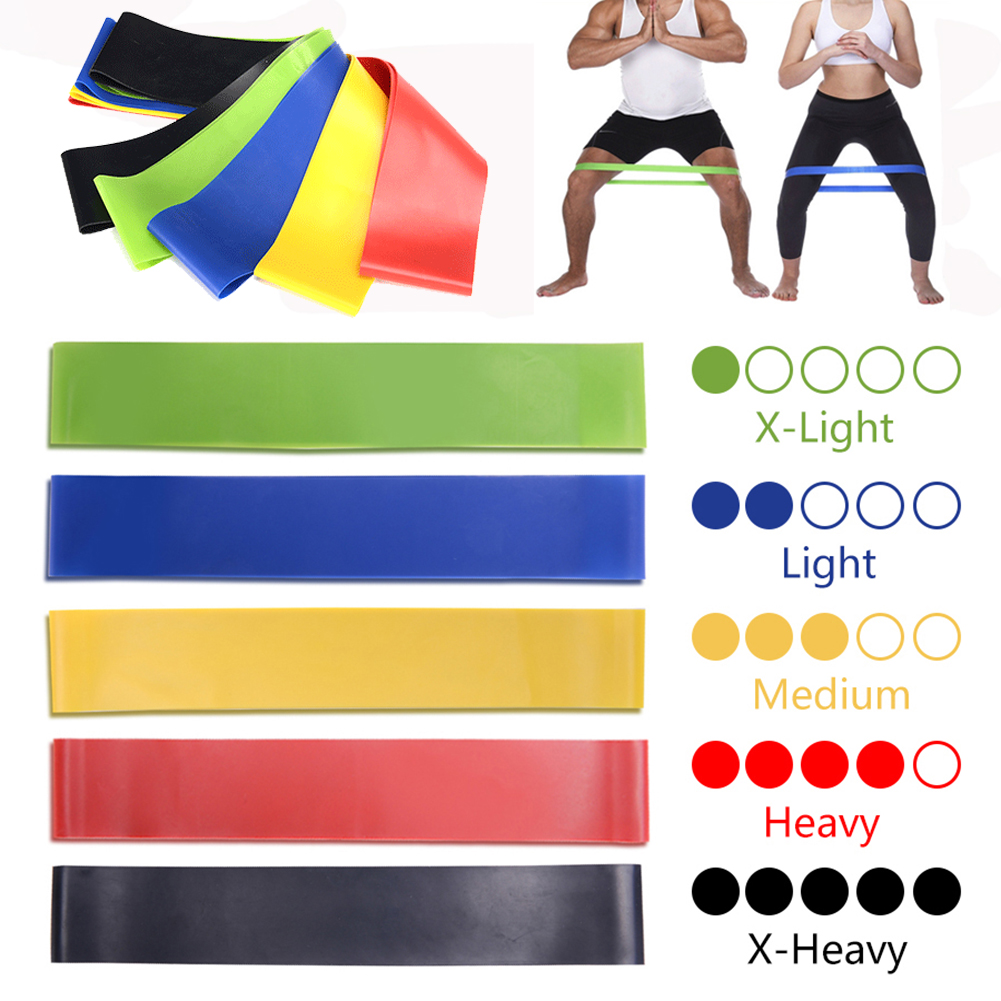 5pcs/set Resistance Loop Bands Pull Up Workout Yoga Bands Fitness Gym Exercise Equipment Latex Strength Training Rubber Band New