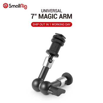 smallrig adjustable friction articulating magic arm with screw ball head and nato clamp ball head for director monitor support SmallRig Adjustable Friction Articulating Magic Arm 7 Long with Cold Shoe Mount & Standard 1/4-20 Threaded Screw Adapter -1497