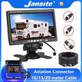Jansite 7-дюймовый HD автомобильный монитор, камера заднего вида, авиационная головка, водонепроницаемая 4-контактная камера, экскаватор, комбай...