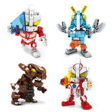 Micro for-Ultraman Building Blocks Children Creative Educational Toy Assembled Fight Inserted DIY Toy Science Intelligence Gift 38cm ultraman orb sacred sword and spear dart which emits light and sounds is a children s like ultraman toy