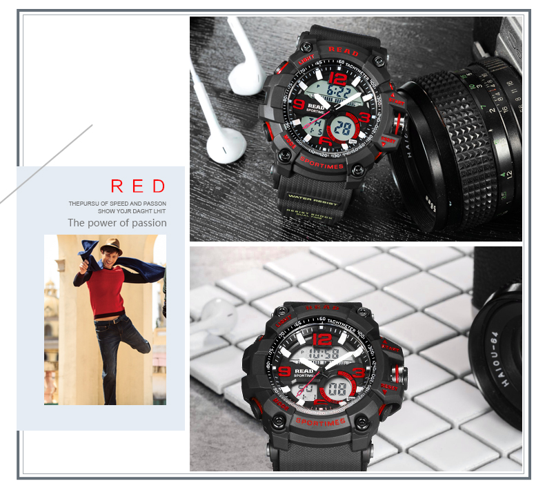 H8fb459ca1dee4621bd37d442e8c85ed3Z - READ Sport Watches for Men Waterproof Digital Watch LED Large Dail Luminous Clock Montre Homme Military Big Men Watches