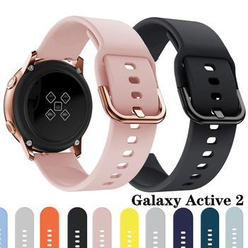 Pasek do zegarka Samsung galaxy zegarek aktywny 2 galaxy pasek do zegarka 42mm zegarek huawei 2 pro bransoletka sportowa z paskiem 42mm 20mm tanie i dobre opinie fegwilde CN (pochodzenie) 22 cm Od zegarków Silikon Nowy z metkami for samsung Galaxy watch Active 2 for samsung Galaxy watch 3 31mm metal button