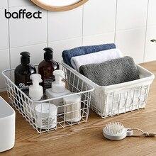 Wired-Basket-Storage Kitchen-Organizer Bathroom Iron Metal Interlining Multi-Functional