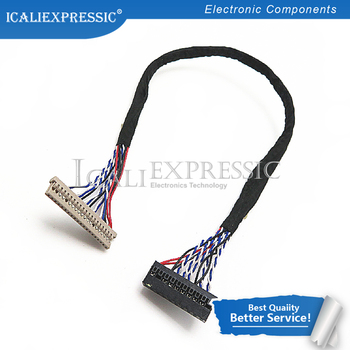 1PCS 400MM DF14-20P-D8 1ch 8bit 20pin LVDS CABLE wire to dupont for LCD board In Stock image