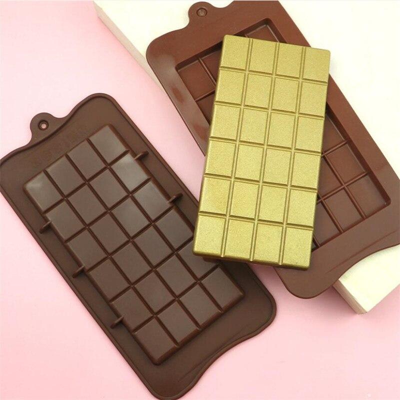 Cake Bakeware Chocolate-Mold Sugar-Mould Bar-Block Ice-Tray Candy-Maker Silicone 24-Cavity