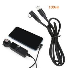 Pour DJI OSMO accessoires de poche câble de données dextension ligne de cardan portable type c à Micro USB/type c pour chargeur de foudre 1m