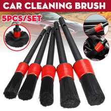 5pcs Car Detailing Brush Cleaning Brushes Wheels Trim Dashboard Air condition Gap Auto Cleaning Tools