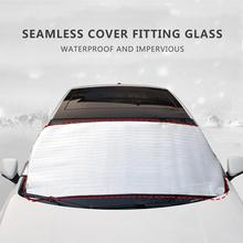 цена на Car Windshield Snow Cover Anti-frost Snow Block Winter Front Windscreen Cover Sun Shade Ice Shield Dust UV Protector Car Styling