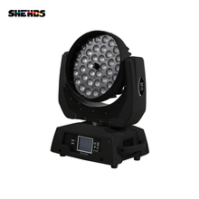 36x12 Вт RGBW 4N1 Led Zoom Moving Head Wash Light DMX512 Led Moving Head Wash Effect освещение Звук и профессиональное освещение