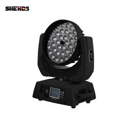 36x12 Вт RGBW 4N1 светодиодный зум перемещение головы мыть светильник DMX512 светодиодная Двигающаяся головка, пригодна для мытья эффект светильник...