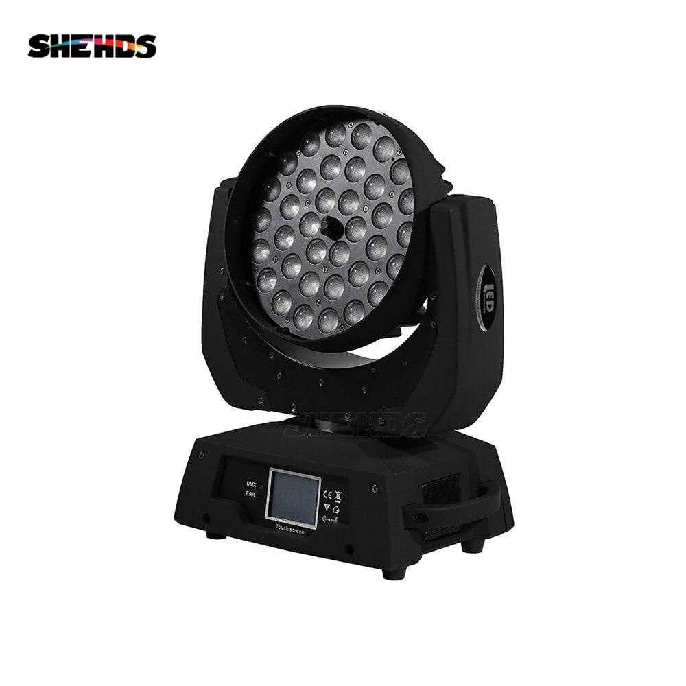 36x12 w rgbw 4n1 led zoom movente cabeça lavagem luz dmx512 led movendo cabeça lavagem efeito luzes som e iluminação profissional