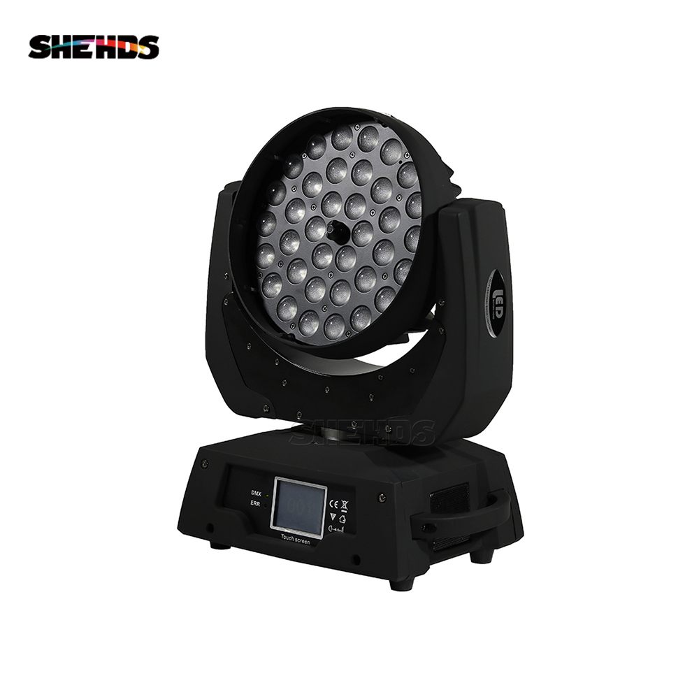 36x12W RGBW 4N1 Led Zoom Moving Head Wash Light DMX512 Led Moving Head Wash Effect Lights Sound And Professional Lighting