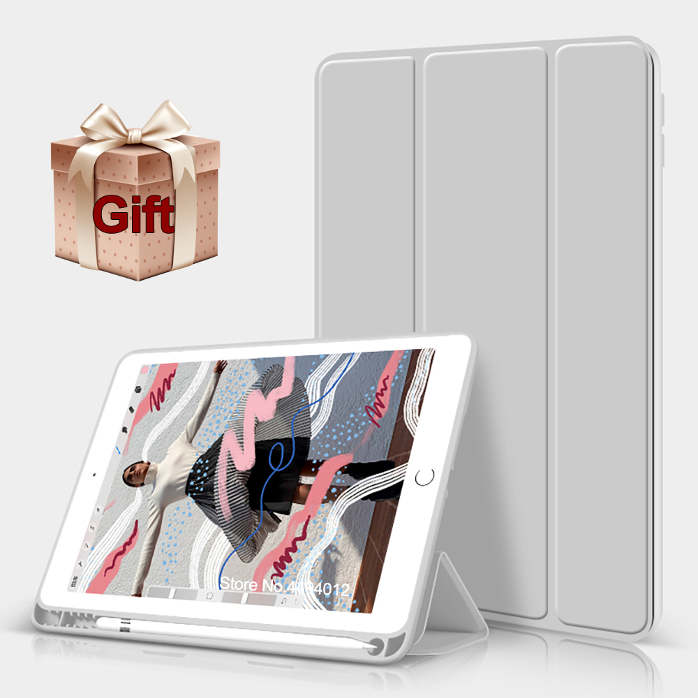 2019 For iPad Air 3 10.5 case Funda For ipad 9.7 2018 Cover Pencil Holder Slim TPU Silicone soft Shell Smart Sleep Wake up image