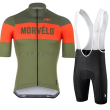 Suit Cycling Uniform Jersey-Set Bike-Clothing Bicycle-Wear Morvelo Sport-Clothes Maillot
