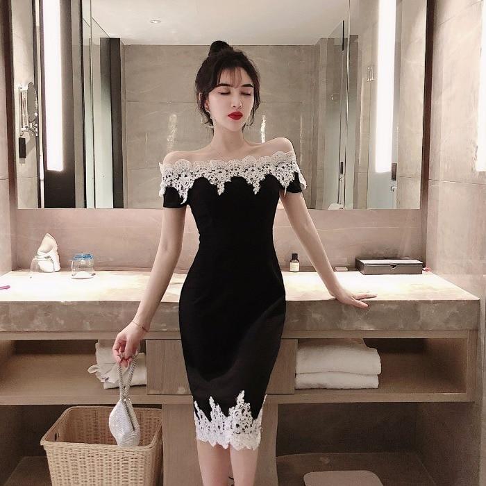 Сексуальное стильное Клубное платье с воротником-лодочкой, на шнуровке, с вырезами, облегающее женское модное Брендовое дизайнерское летне...