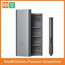2020 xiaomi mijia chave de fenda de precisão elétrica kit 2 torque de engrenagem 400 parafuso 1 tipo-c recarregável caixa de alumínio magnético