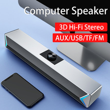 2020 TV Sound Bar AUX USB Wired and Wireless Bluetooth Home Theater FM Radio Surround SoundBar for PC TV Speaker for Computer