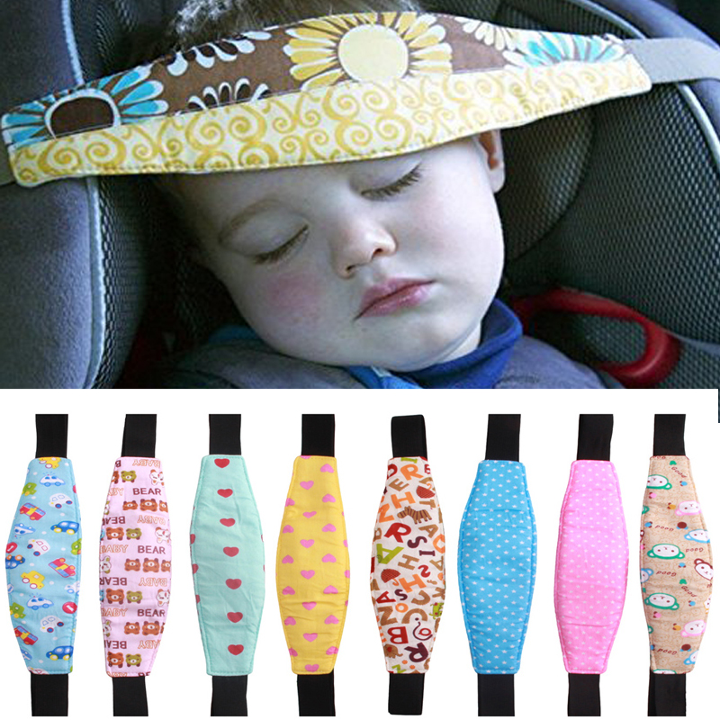 Infants Baby Head Support Safety Seat Fastening Belt Adjustable Playpens Car Safety Seat Sleep Positioner