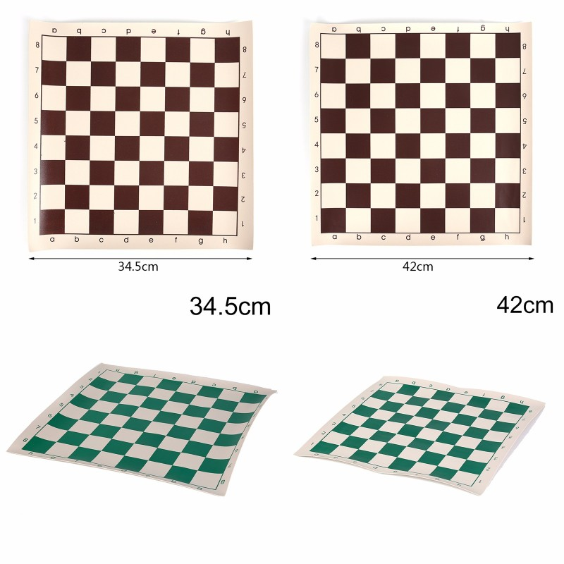 Vinyl Tournament Chess Board Kids Educational Games Magnetic Chess Board Splic lattice decoration table mat waterproof oil proof