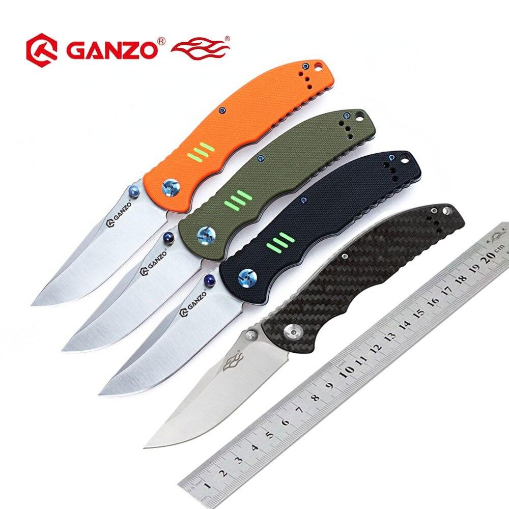 Ganzo Firebird F7501 440C G10 o mango de fibra de carbono cuchillo plegable de supervivencia herramienta de Camping cuchillo de bolsillo táctico herramienta para exteriores EDC