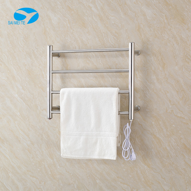 Electric Heated Towel Rail Sanitary Ware Drying Rack Stainless Steel Bathroom Towel Rack Storage Shelf 304 Pendant