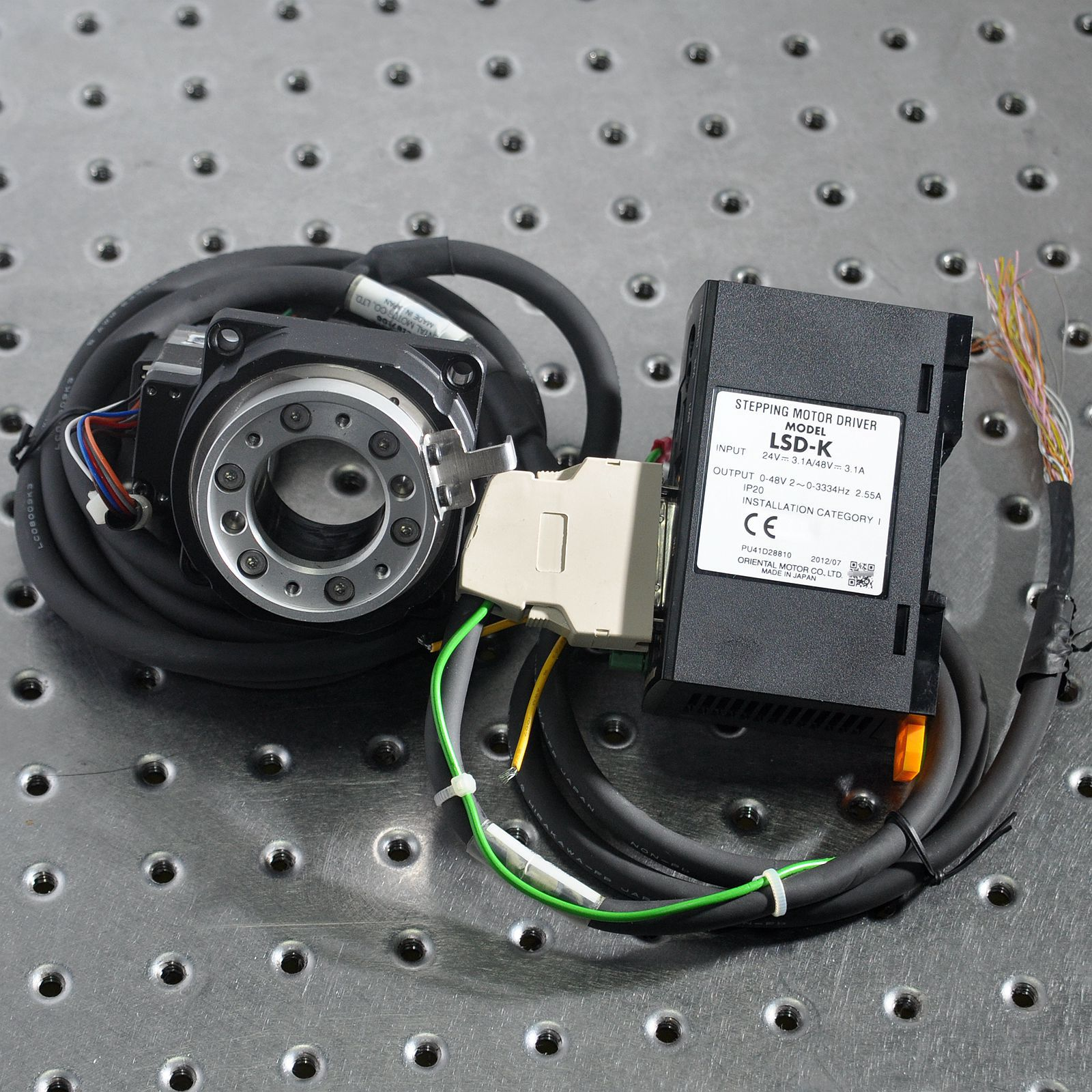 DGM60-ARAK Oriental Stepper Motor Hollow Electric Turntable Indexing Plate Can Rotate 360 Degrees Aluminum Sliding Table
