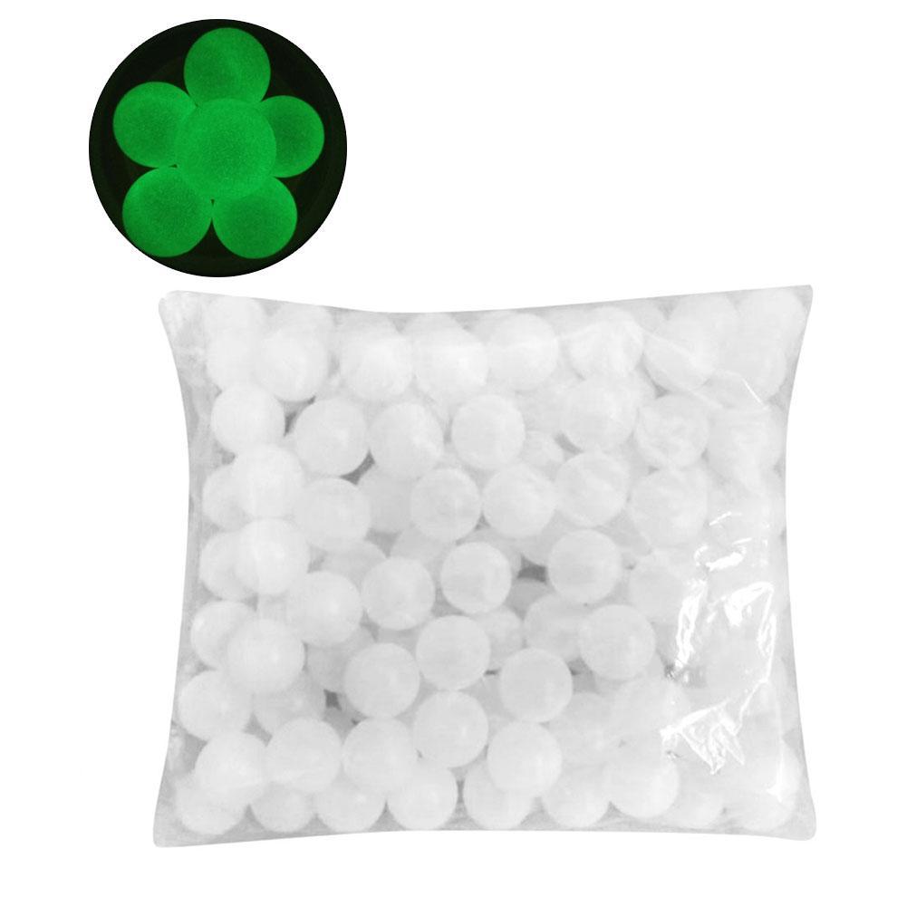 50PCS/150PCS 40MM Luminous Ping Pong Ball Plastic Fluorescent Table Tennis Ball Practice Ball