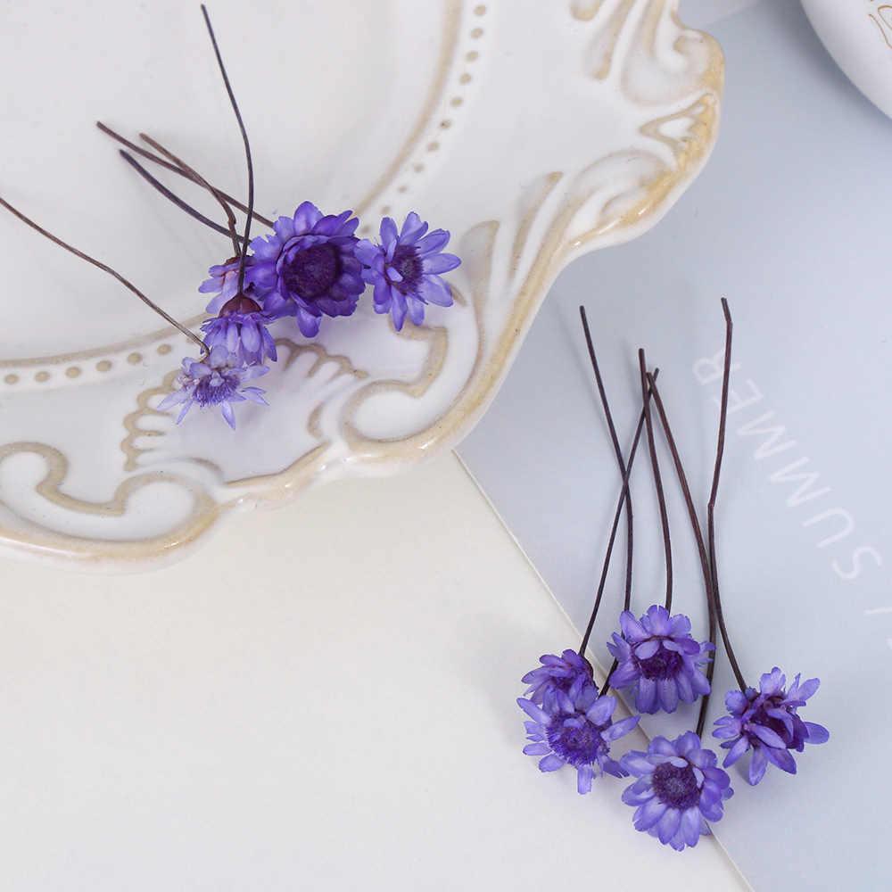 10 piezas de estrella brasileña flor seca DIY epoxi hecho a mano materiales relleno flores secas piedra joyería fabricación de resina artesanía decoración del hogar