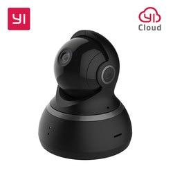 يي كاميرا بشكل قبة 1080P عموم/إمالة/التكبير اللاسلكية IP نظام مراقبة الأمن كاملة 360 درجة التغطية للرؤية الليلية الأسود