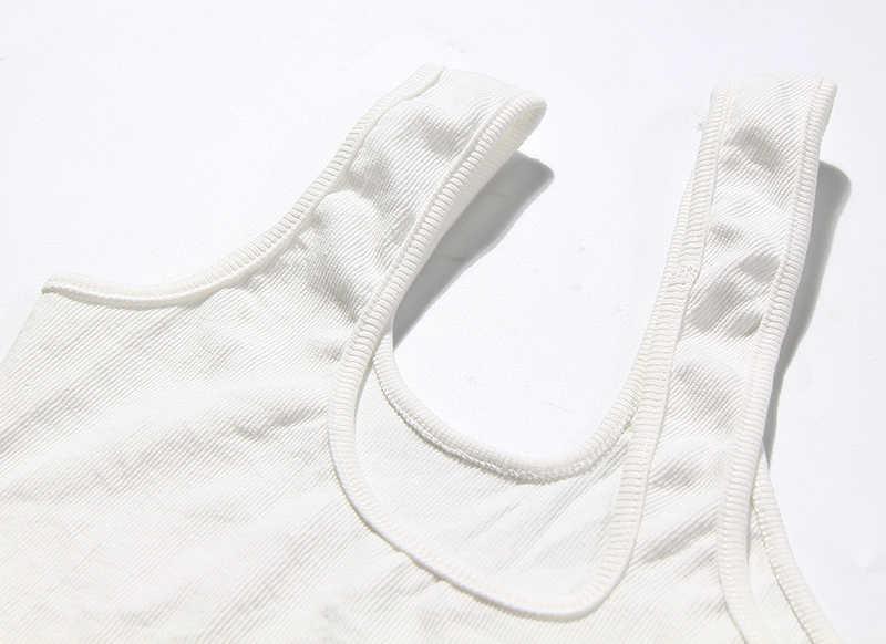 TWOTWINSTYLE Giày Lười Bất Đối Xứng Áo Vest Nữ Lệch Không Tay Có Cổ Khoét Hở Không Đều Áo Nữ Thời Trang Thủy Triều