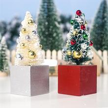 2 Pack New High-quality Christmas Tree Desktop Decoration Mini Beads Ornaments Beautiful Bead Design