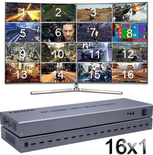 4K Hdmi 16X1 Quad Multi Viewer Switcher 16 In 1 Out Naadloze Switch Multiviewer Foto Screen divider Converter Ethernet RS232